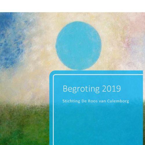 Stichting De Roos van Culemborg Begroting 2019