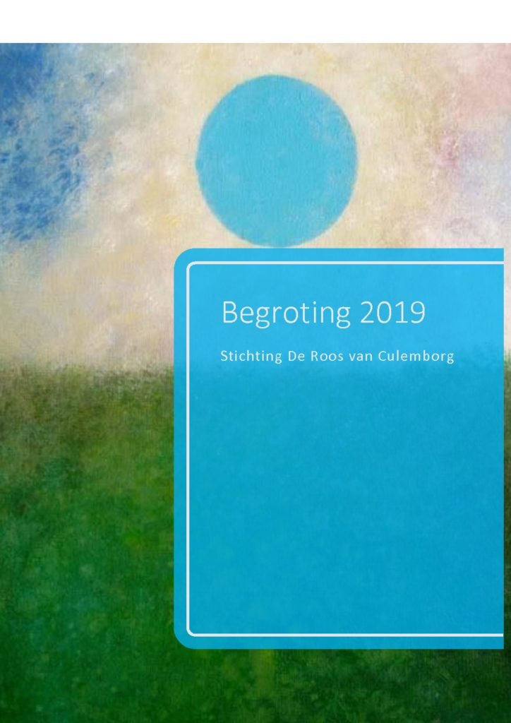 thumbnail of Stichting De Roos van Culemborg Begroting 2019